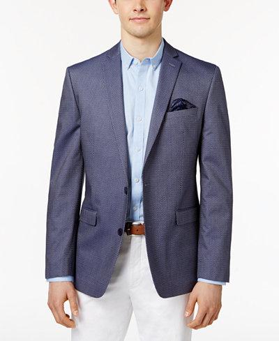 Bar III Men's Slim-Fit Denim Pindot Cotton Sport Coat, Only at ...