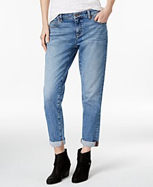 Cuffed Boyfriend Jeans, Regular & Petite