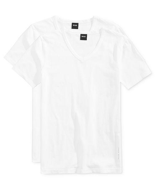 Hugo Boss BOSS Men's 2 Pack V-Neck Undershirts