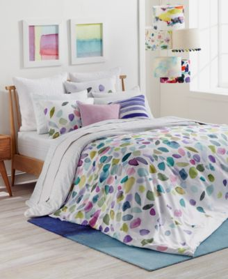 CLOSEOUT! Mosaic Cotton Reversible Twin/Twin XL Duvet Set