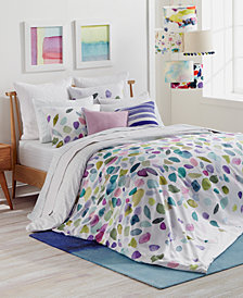 CLOSEOUT! bluebellgray Mosaic Cotton Reversible Twin/Twin XL Duvet Set