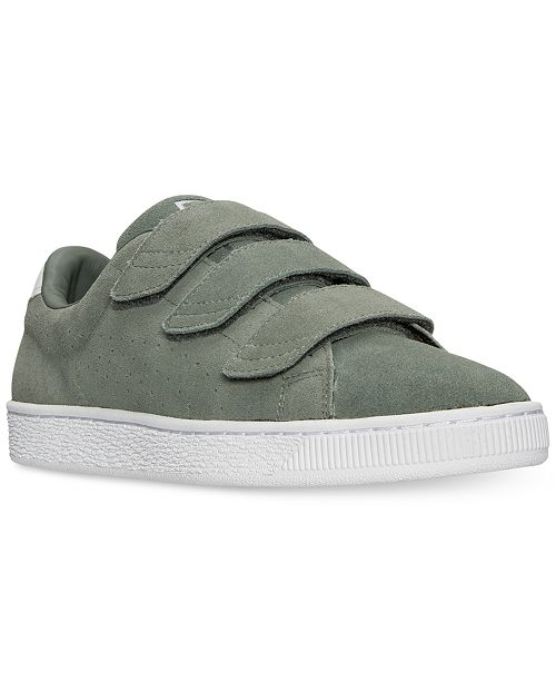2e51d8328d7a Puma Men s Basket Classic Strap Casual Sneakers from Finish Line ...