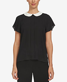 CeCe Peter-Pan-Collar Blouse