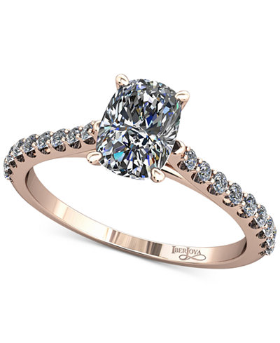 Diamond Cathedral Mount Setting (1/5 ct. t.w.) in 14k Rose Gold