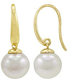 Pearl Earrings, 18k Gold over Sterling Silver Organic Man Made Pearl Drops
