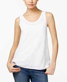 Eileen Fisher SYSTEM Organic Linen Tank Top, Regular & Petite