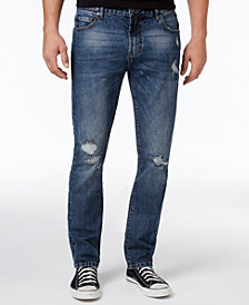 American Rag Men's Slim Fit Ripped Jeans, Created for Macy's
