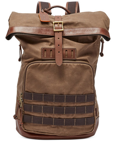 Fossil Men's Defender Roll-Top Backpack - Accessories & Wallets ...
