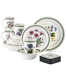 Botanic Garden 22 Piece Set Service for 4, Created for Macy's