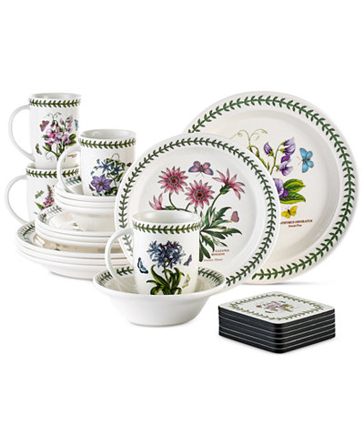 Portmeirion botanic garden 22 piece set service for 4 for Portmeirion dinnerware set of 4 botanic garden canape plates