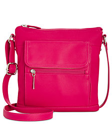 Giani Bernini Nappa Leather Venice Crossbody, Created for Macy's