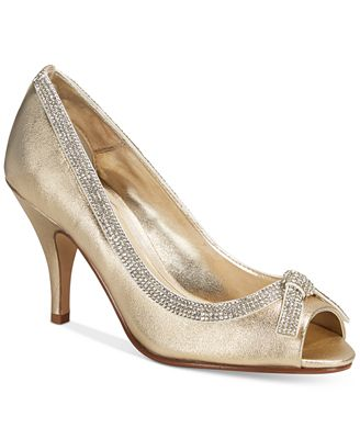 Caparros Glow Peep-Toe Evening Pumps