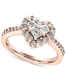Classique by EFFY® Diamond Heart Ring (9/10 ct. t.w.) in 14k White Gold or Rose Gold