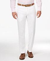 Lauren Ralph Men S Clic Fit Solid Linen Dress Pants