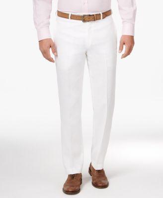 Men white dress pants.
