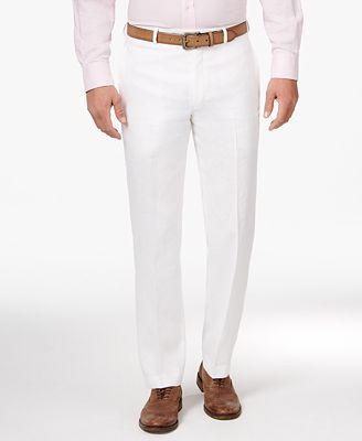 Lauren Ralph Lauren Men S Classic Fit Solid Linen Dress Pants