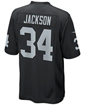 new concept cd37a 3a681 Nike Men s Bo Jackson Oakland Raiders Retired Game Jersey