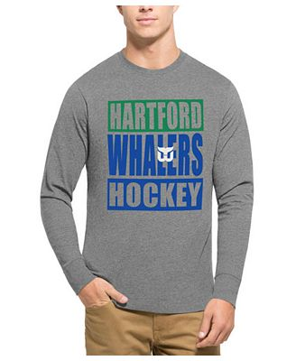 '47 Brand Men's Hartford Whalers Stacked Club Long Sleeve T-Shirt