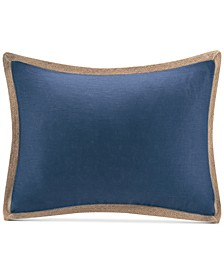 "14"" x 20"" Oblong Linen with Jute Trim Decorative Pillow"