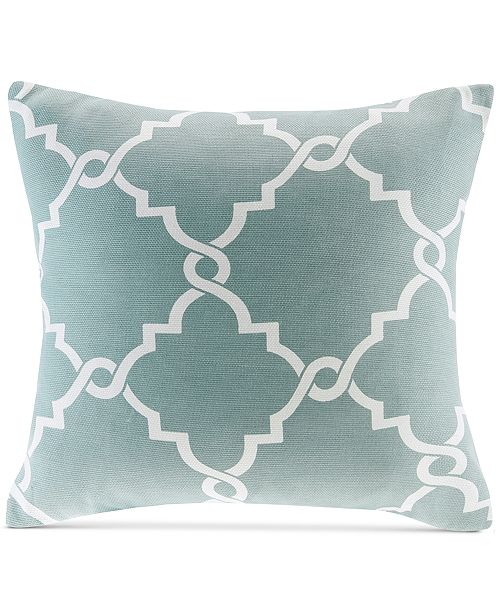 Madison Park Saratoga FretworkPrint 40 Square Decorative Pillow Cool Fretwork Decorative Pillow