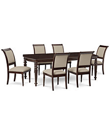Syrah Dining Furniture, 7-Pc. Set (Dining Table & 6 Side Chairs)