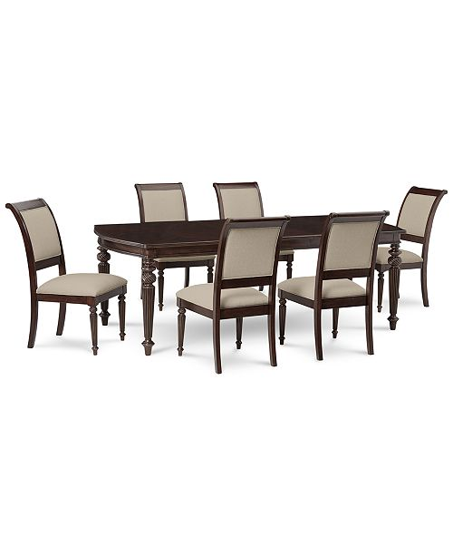 Macys Dining Table: Furniture Syrah Dining Furniture, 7-Pc. Set (Dining Table
