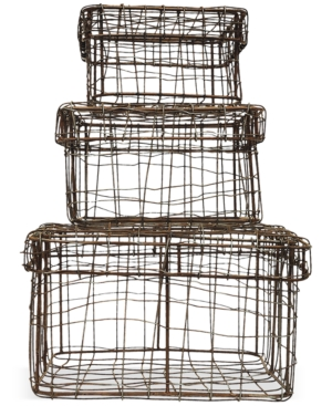 Square Iron Wire Baskets...