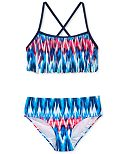 Kanu Surf 2-Pc. Kelly Fringe Bikini Swimsuit, Big Girls (7-16)