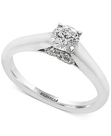 EFFY®  Infinite Love Diamond Infinity Engagement Ring (1/2 ct. t.w.) in 18k White Gold