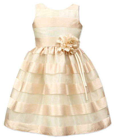 Jayne Copeland Illusion Striped Dress, Big Girls (7-16)