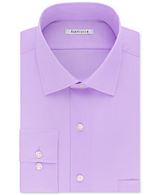 Van Heusen Men's Classic-Fit Big & Tall Wrinkle Free Flex Collar Stretch Solid Dress Shirt