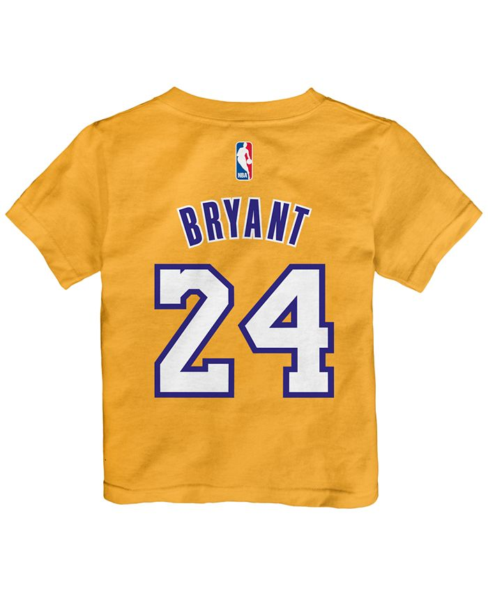 adidas Toddlers' Kobe Bryant Los Angeles Lakers Warriors Name And ...