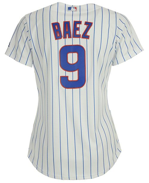 debf8586ab8 ... Majestic Women s Javier Baez Chicago Cubs Cool Base Player Replica  Jersey ...