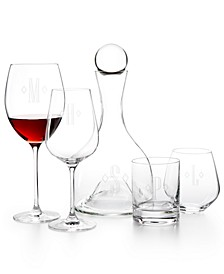 Tuscany Federal Monogram Glassware Collection