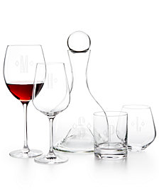 Lenox Tuscany Federal Monogram Glassware Collection