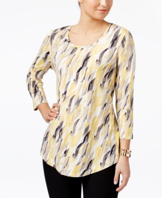 Image of JM Collection Printed Top, Only at Macy's