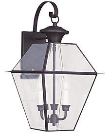 Livex Westover 3- Light Glass Sconce