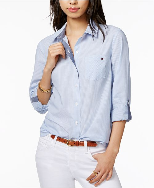 ... Tommy Hilfiger Cotton Pinstripe Shirt 7223f6290d