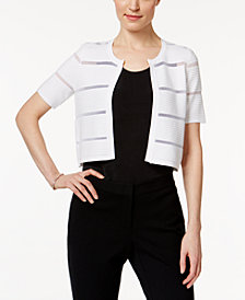 Calvin Klein Short-Sleeve Illusion-Inset Shrug