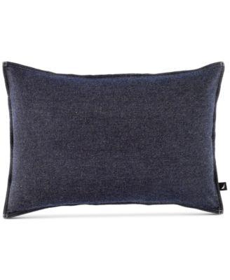 "CLOSEOUT! Seaward Reversible Denim 14"" x 20"" Decorative Pillow"