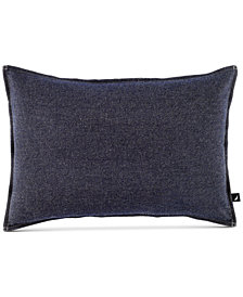 "CLOSEOUT! Nautica Seaward Reversible Denim 14"" x 20"" Decorative Pillow"