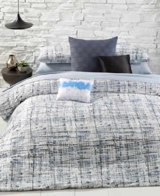City Plaid Queen Duvet Cover Set