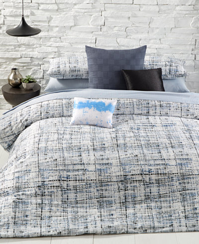 Calvin Klein City Plaid Comforter Sets