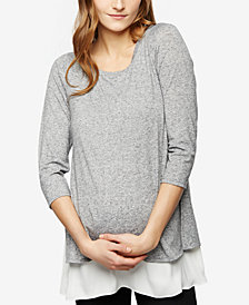 A Pea In The Pod Layered-Look Nursing Top