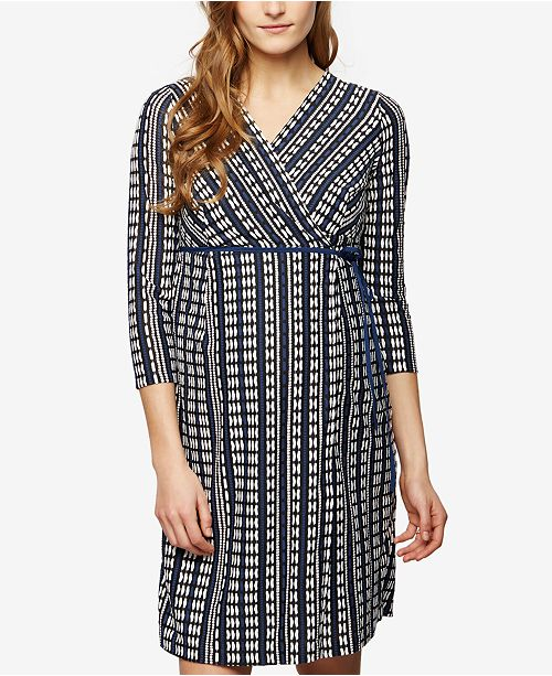 21bfc792bf13b A Pea in the Pod Maternity Printed Wrap Dress & Reviews - Maternity ...
