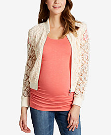 Motherhood Maternity Lace Full-Zip Jacket