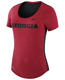 Nike Women's Georgia Bulldogs Dri-Blend Scoop T-Shirt