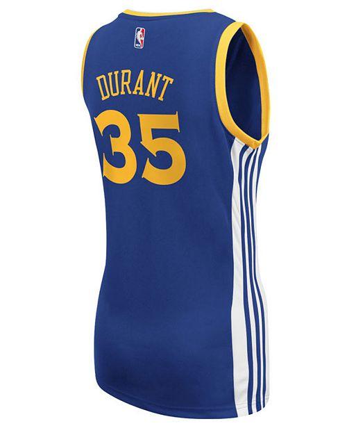 watch f6a33 863b1 adidas Women's Kevin Durant Golden State Warriors Replica ...