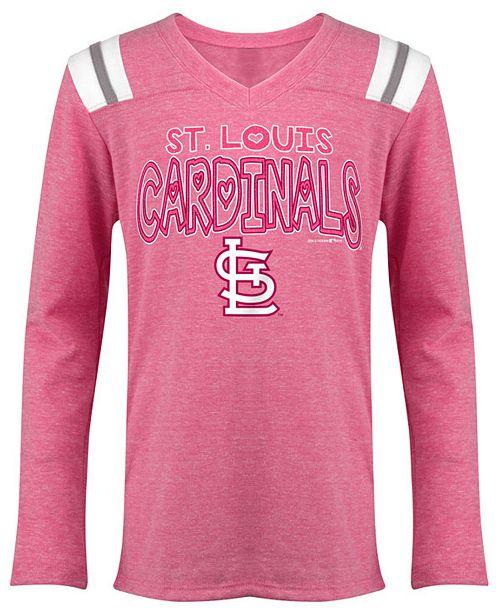 5th & Ocean St. Louis Cardinals Heart Pink Long Sleeve T-Shirt, Girls (4-16)