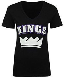 5th & Ocean Women's Sacramento Kings Mesh Logo T-Shirt